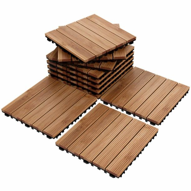 interlocking wood tiles for outdoor