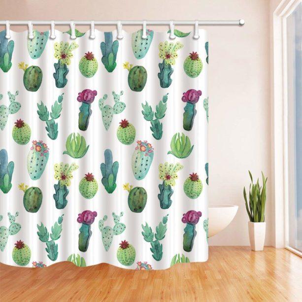 ChuaMi cactus shower curtain