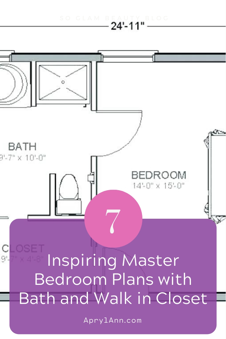 Master Bedroom Plans With Bath And Walk In Closet