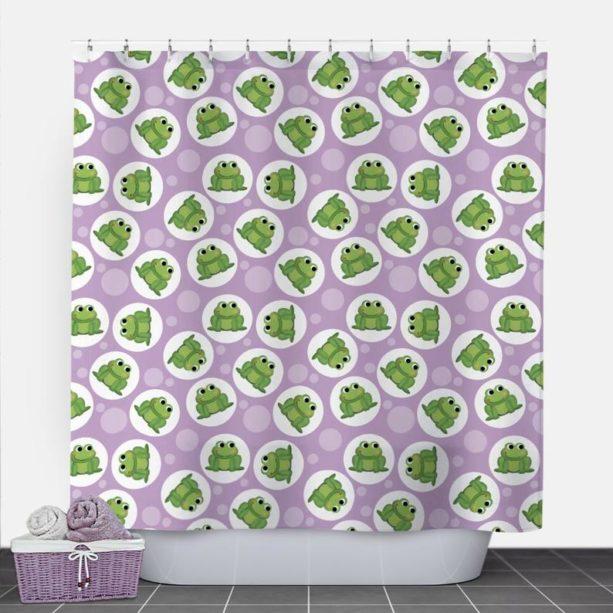 SpeckleRock frog shower curtain