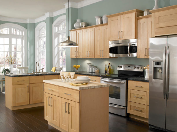 8 Most Excellent Kitchen Paint Colors, Painted Green Maple Kitchen Cabinets