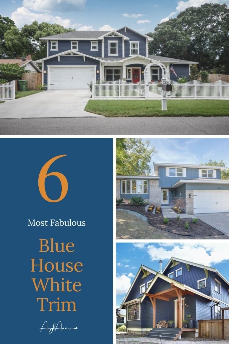 6 Best Blue House White Trim Combinations