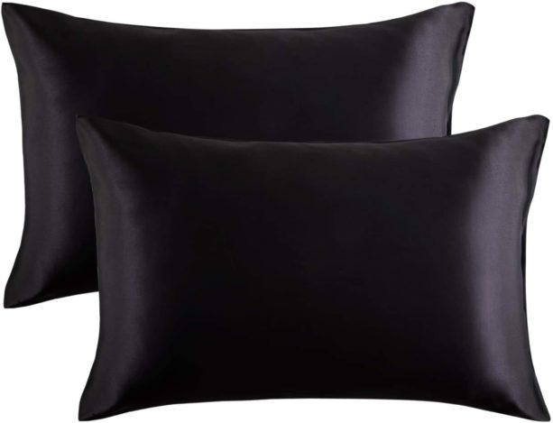 Bedsure black satin pillowcases