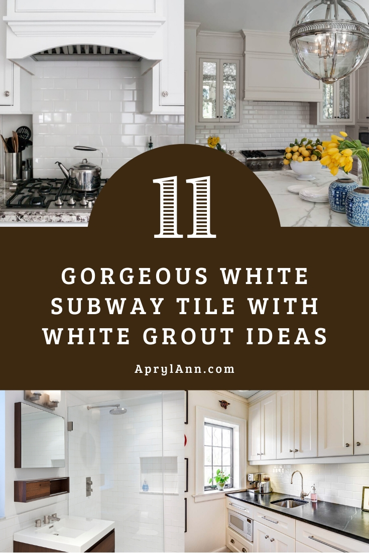 White Subway Tile With White Grout