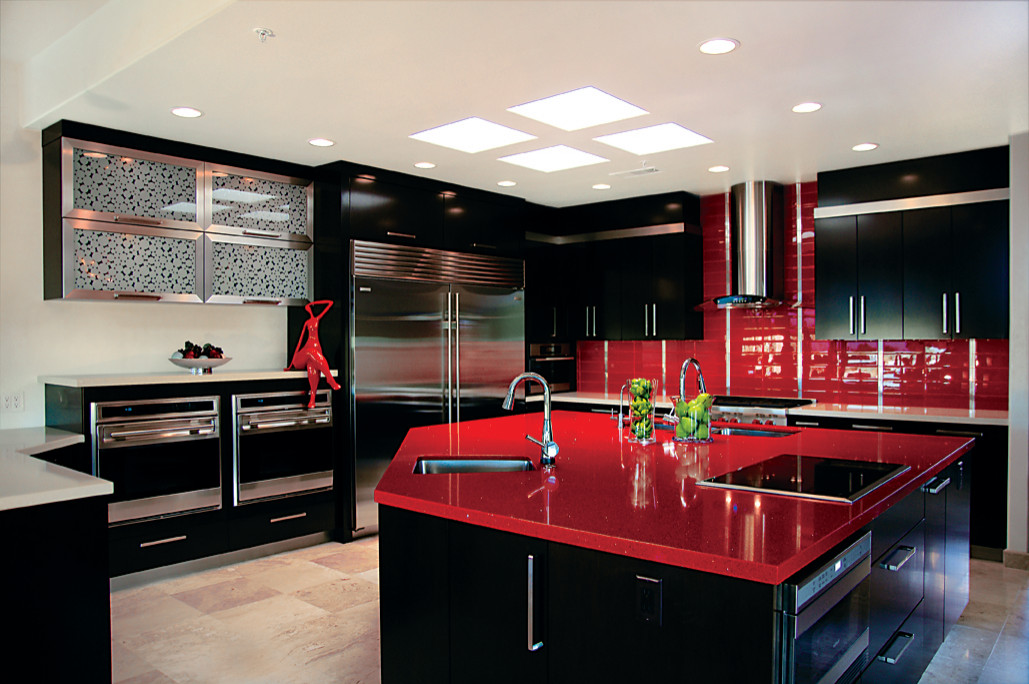 17 striking red and black kitchen ideas to style up your
