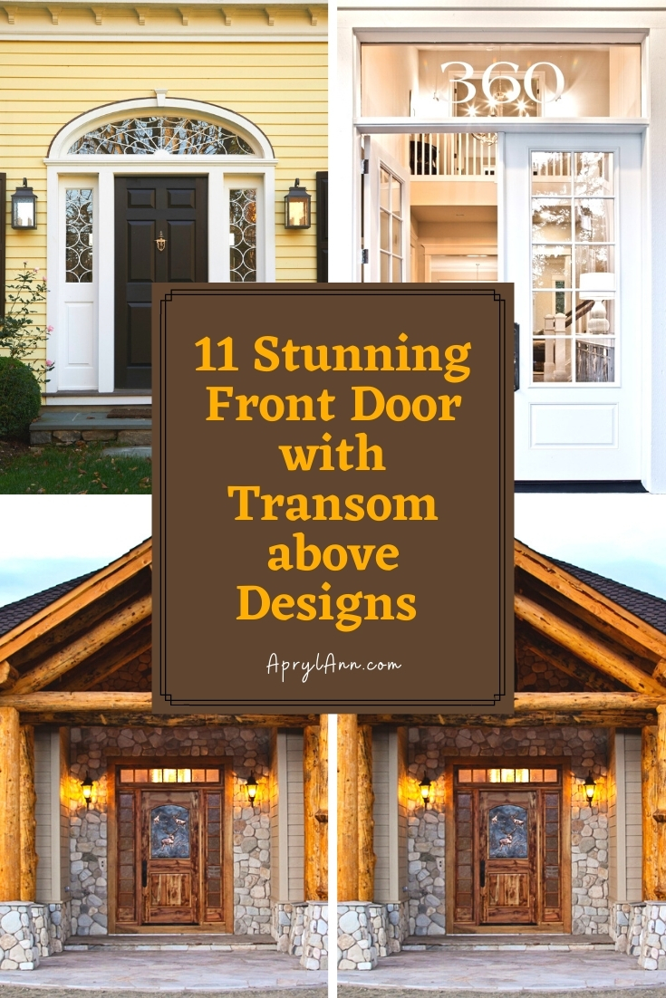 Front Door With Transom Above