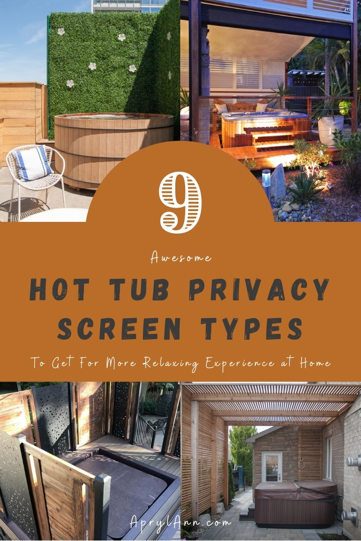 9 Hot Tub Privacy Screen Types
