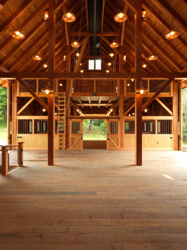 a barn styled carport with post and beam structure