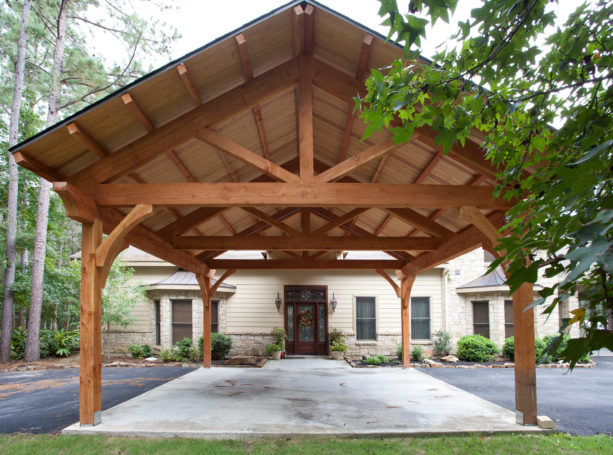 inspiration for a timeless post and beam carport in cedar wood