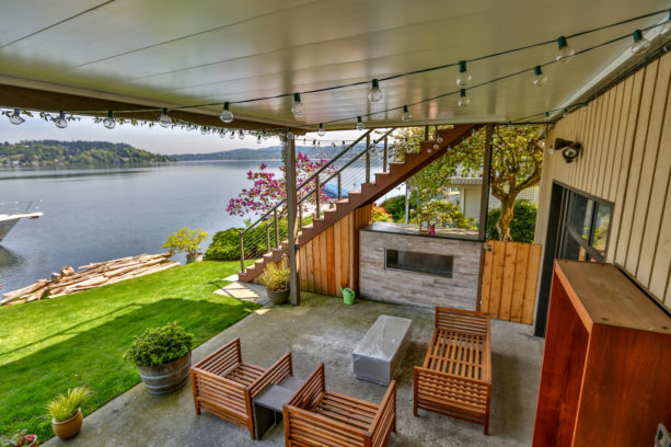 composite second story deck with under deck ceiling idea