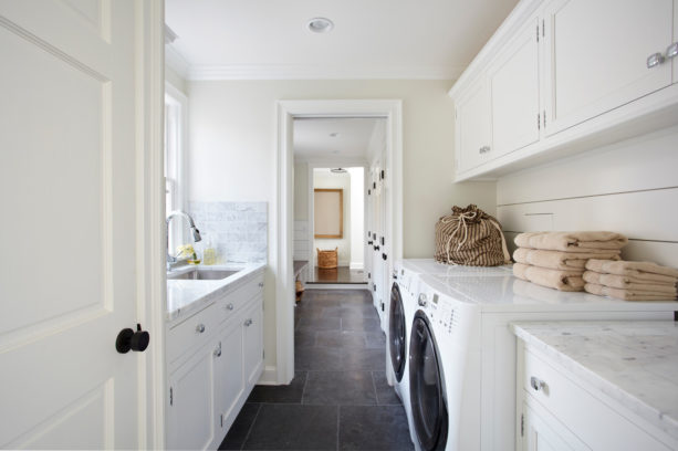 black indian limestone tile laundry room floor for a dent protection