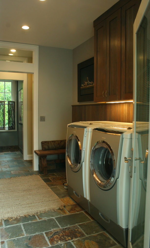 reclaimed slate roofing tile laundry room floor for a beautiful yet sustainable area