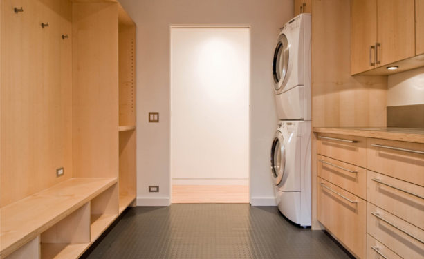 rubber tile laundry room for a highly resistance to heavy foot traffic floor