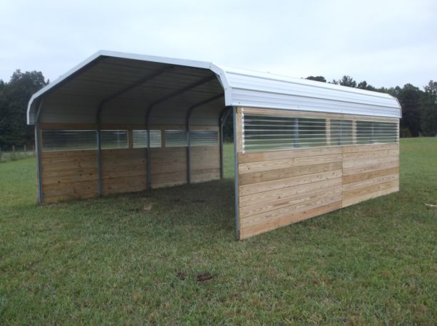what are the benefits of enclosing a metal carport with wood?