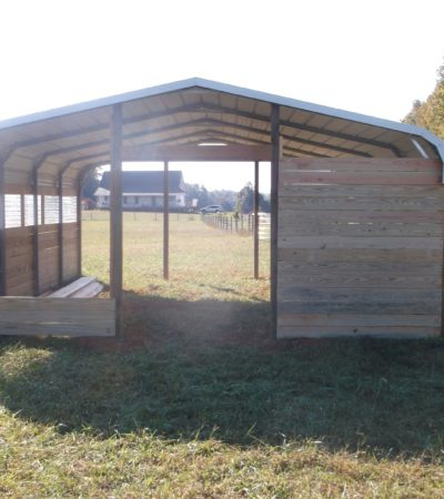 why you should enclose your metal carport with wood?